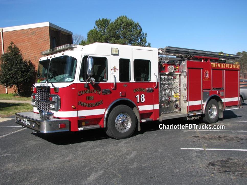 500 Gallon Water Tank >> Fire Station 18 | Charlotte F.D. Trucks