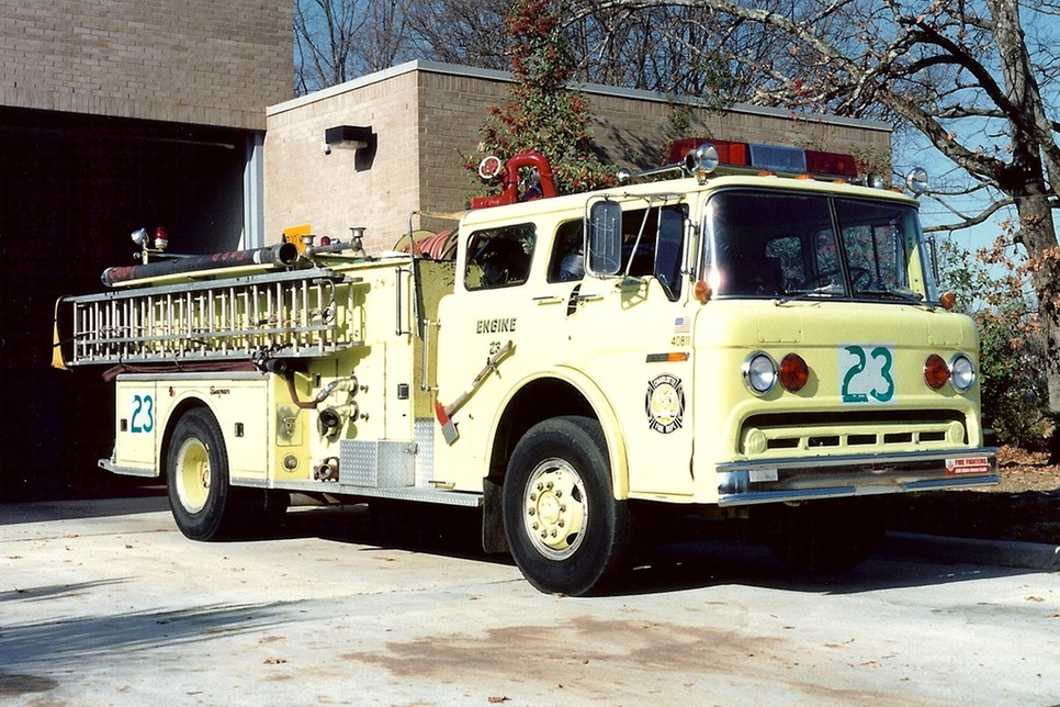 Engine 23 yellow