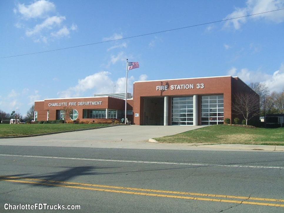 Fire Station 33 Charlotte F D Trucks