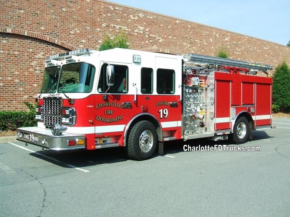Fire Station 19 Charlotte F D Trucks